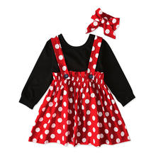Baby Girl Boutique Clothing Sets Children Cartoon Dot Long Sleeve Kids Wear Bangladesh Girls For Kids Clothes