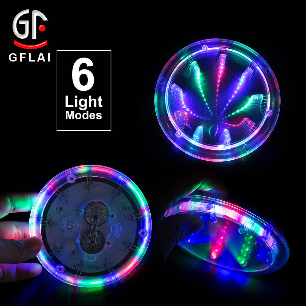 Christmas Decoration GFLAI New Product LED Light Up Coaster Bottle & Cup