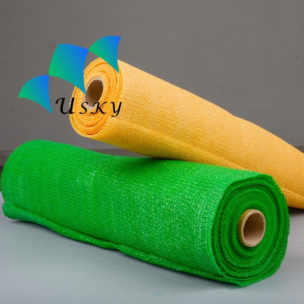 waterproof sun shading nets 100% HDPE green 40% shade cloth sail elastic mesh netting China shade cloth roll agricultural