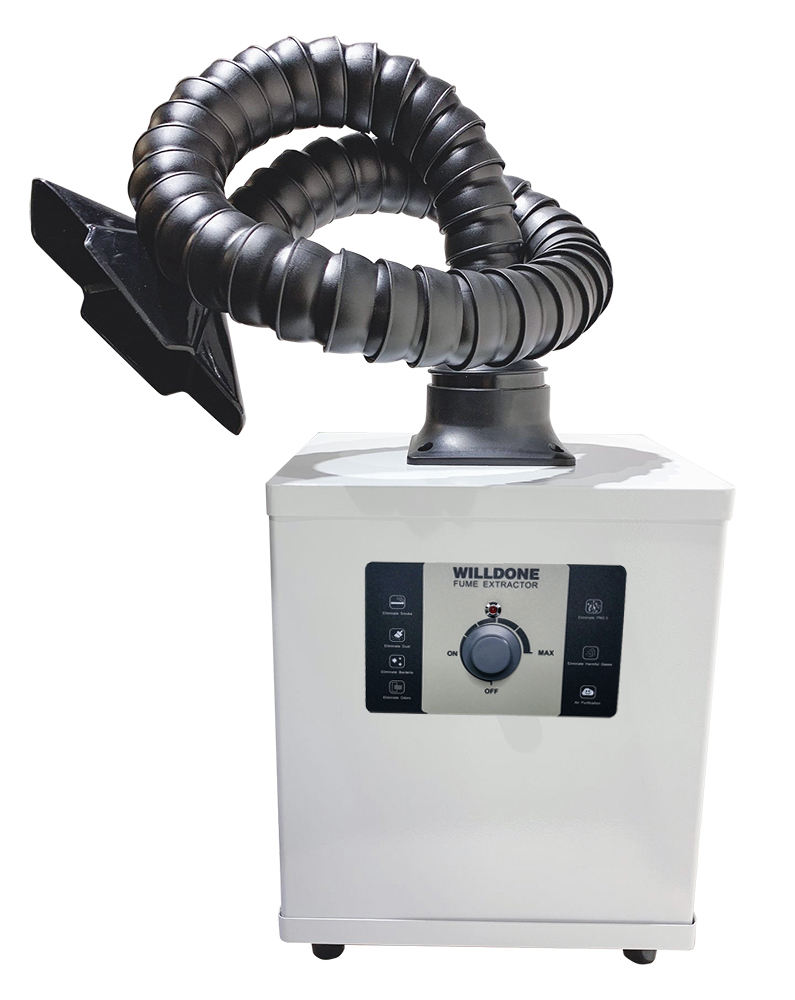 150W Compact laminar air flow fume extractor exhaust fume extractor for workshops