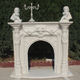 Indoor Hand Carved White Decorative Stone Fireplace