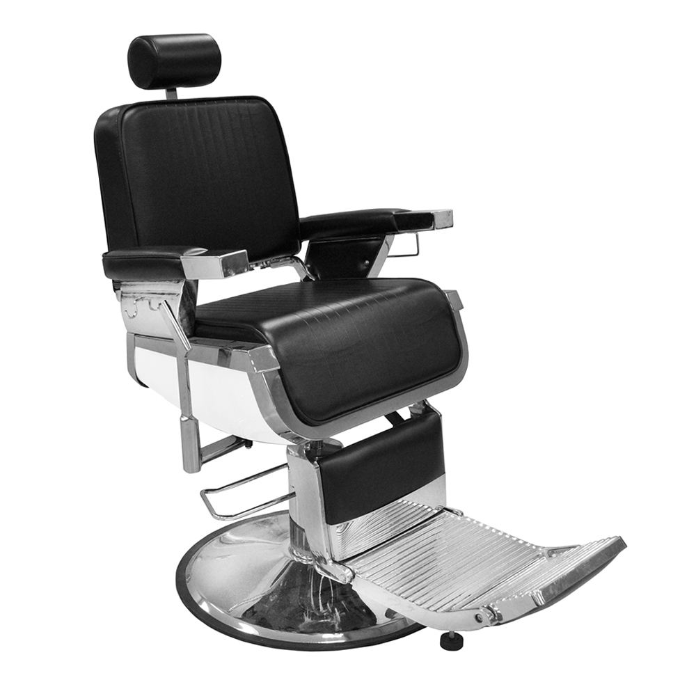 DTY hydraulic men's black leather barber chair base