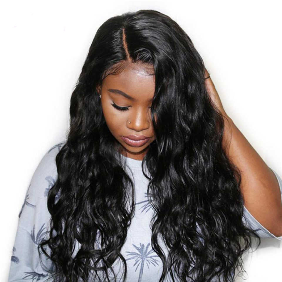 180% density brazilian human hair body wave wig 13*6 front lace Wigs with baby hair