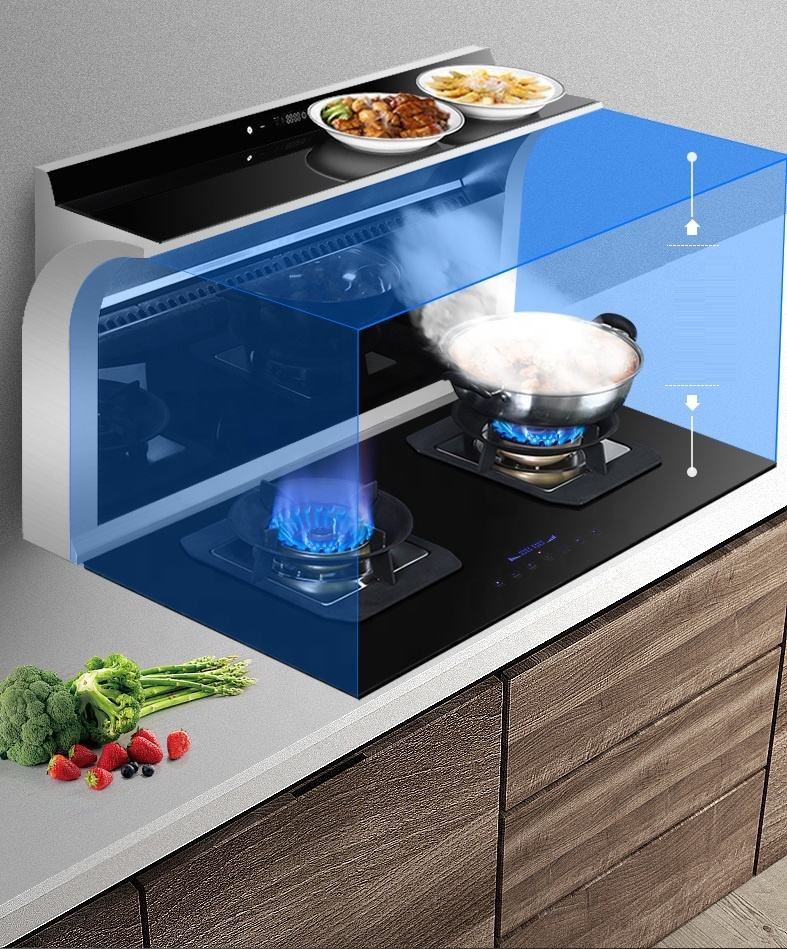 kitchen appliance integrated countertop build in 36inch 90cm cooker hood downdraft hood stove exhaust fan
