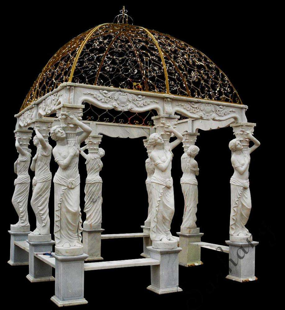 Outdoor Garden Marble Stone Dome Gazebo gallery