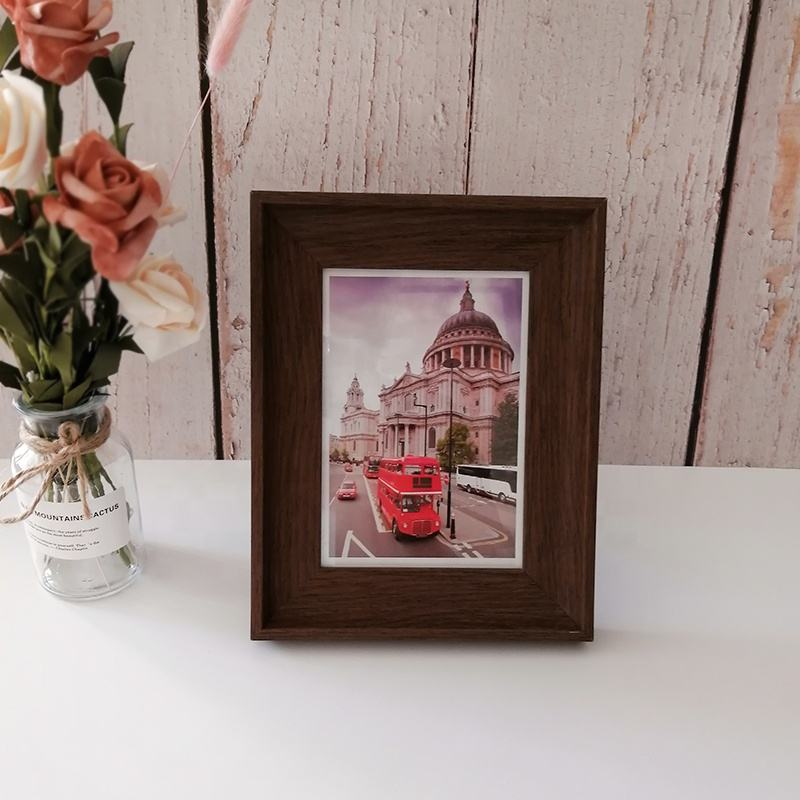 China wholesale 4 x 6 inch faux wood standing photo frame