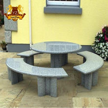 white carrara round stone table and chair set garden decoration marble table bench