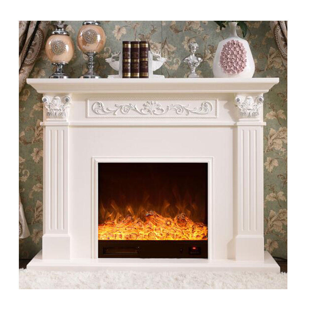 Fireplace with modern Design, Decorative Flame Electric Fireplace Mantel Surround