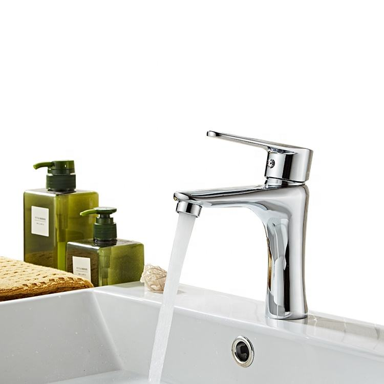 Modern design brass single handle bathroom faucet, high quality bathroom wash basin tap