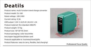eu au us uk interchangeable plug wall charger ac/dc 10w mobile phone power adapter 5v 1a 2.1a 2a usb adaptor