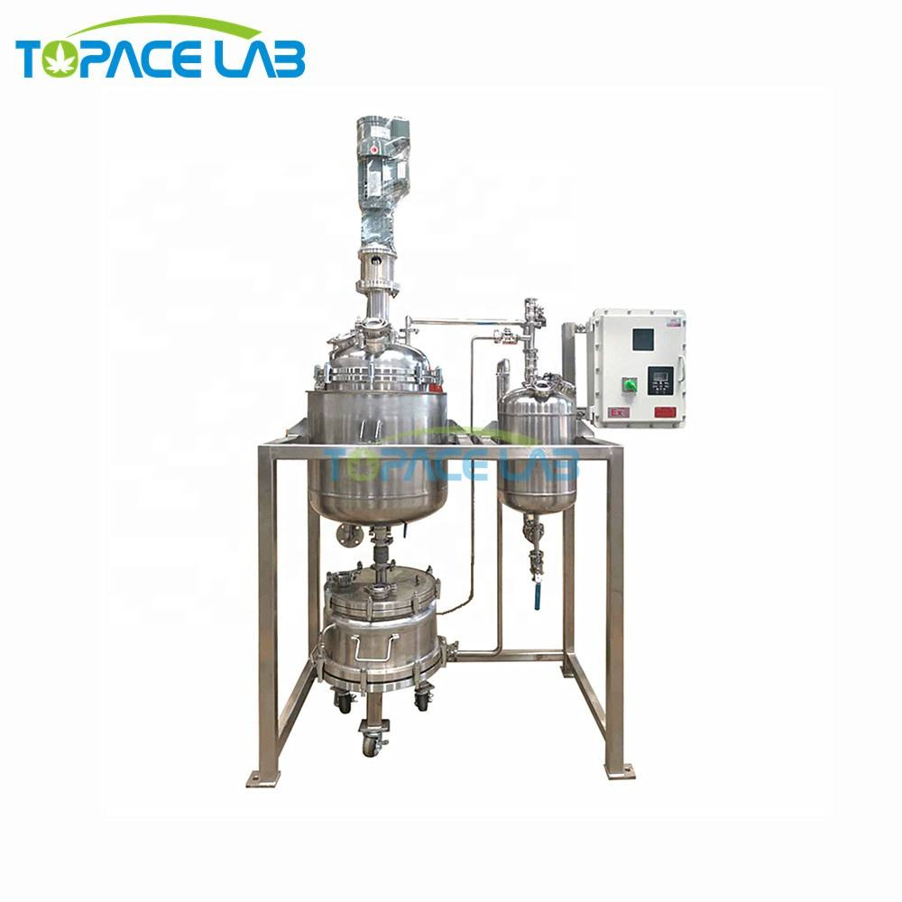 High Quality 50L 100L 200L Jacketed Stainless Steel Filter Reactor Vessel
