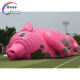 Commerical outdoor Cute pink giant pig inflatable tent