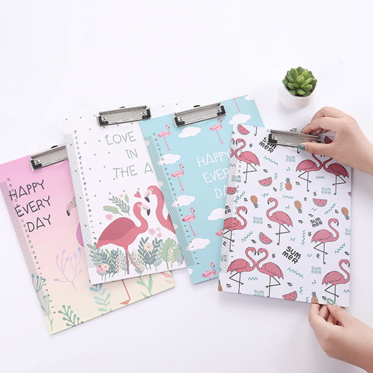 European style high quality custom pattern paper office stationery a5 / a4 clipboard