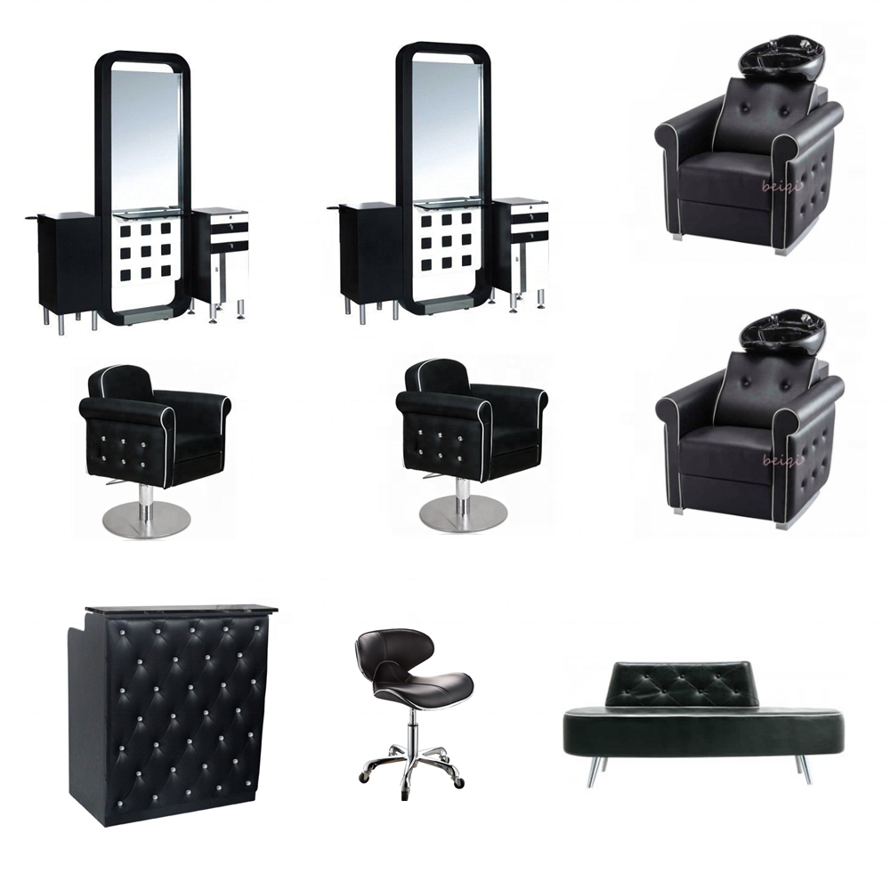 2020 high quality salon equipment packages cheap barber chair station shampoo units used for salon
