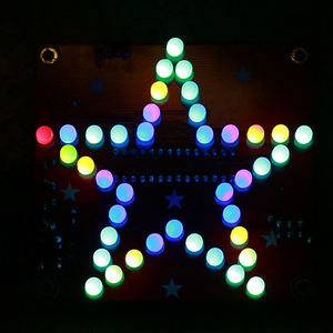 DIY Kit Pentagram RGB LED Music Flashing Light Five-Pointed Star Pure Music