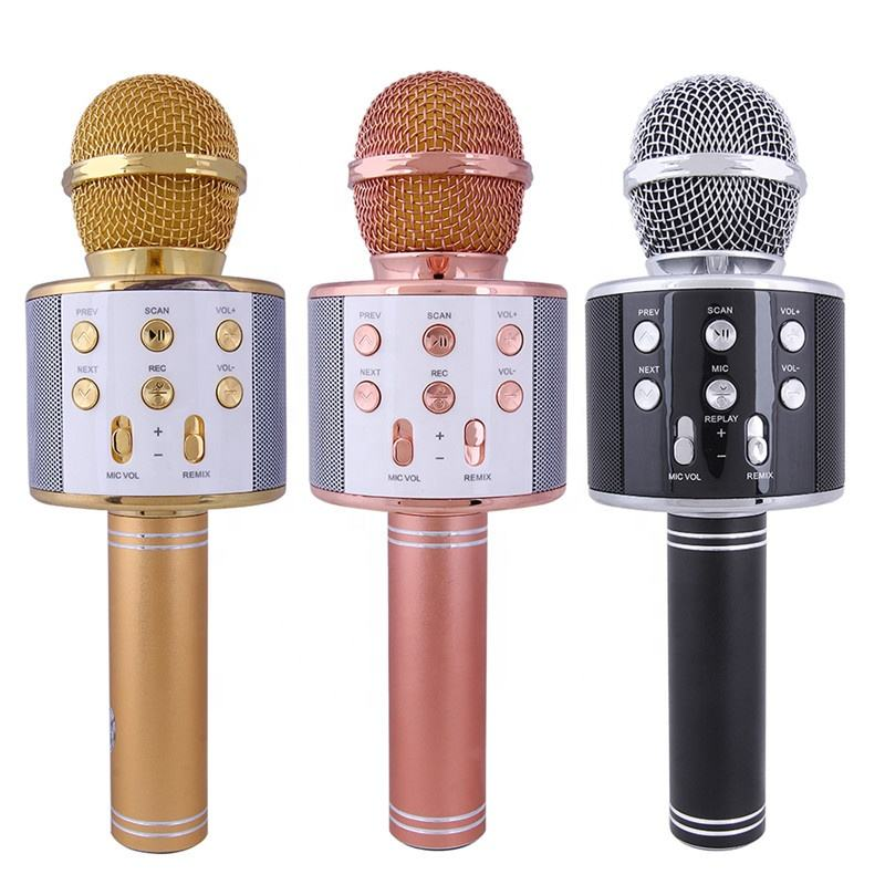 Brand New Arrival Wireless kids play electric musical karaoke microphone for android tv