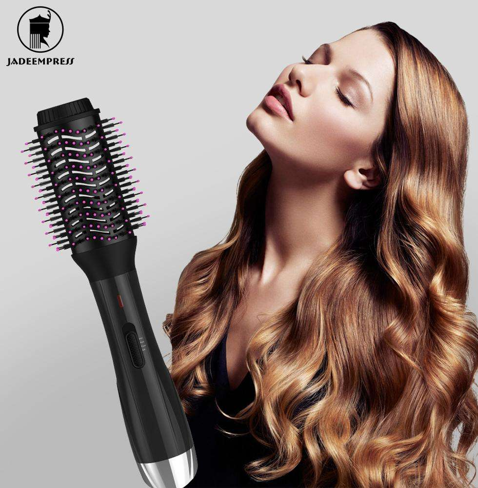 Hot One Step Hair Dryer and Volumizer - Salon Multi-function Hair Dryer & Volumizing Styler Comb,Hot Air Paddle Styling Brush