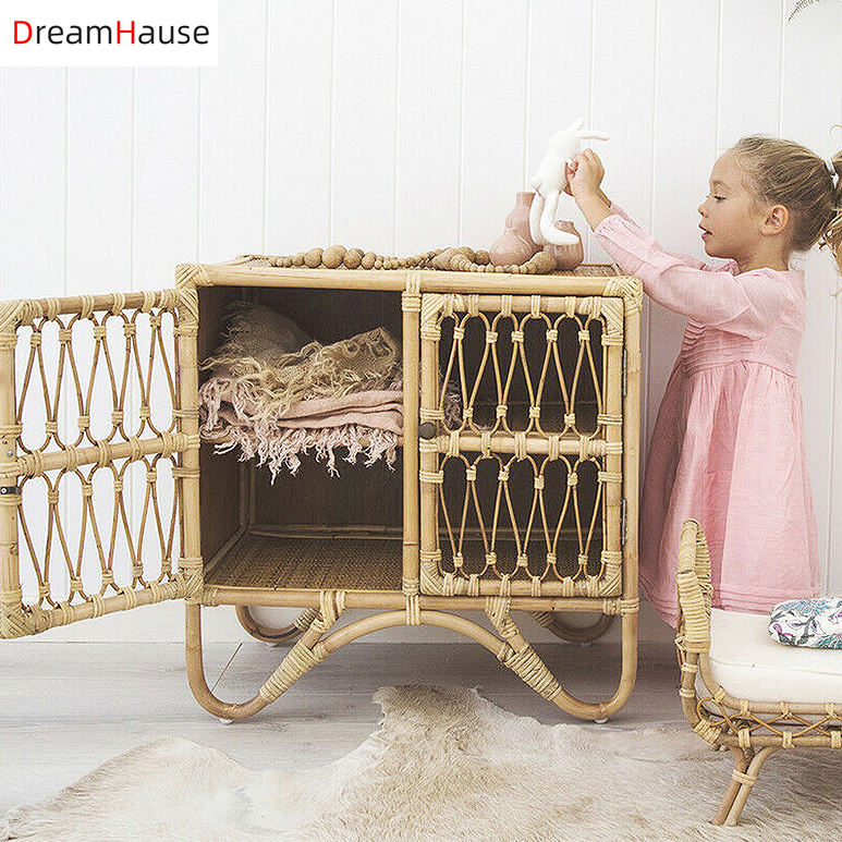 Dreamhause Vine bedside table simple garden bedroom multifunctional rattan cabinet storage cabinet storage side cabinet