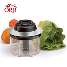 Wholesale manual stainless steel cover vegetable onion pull chopper