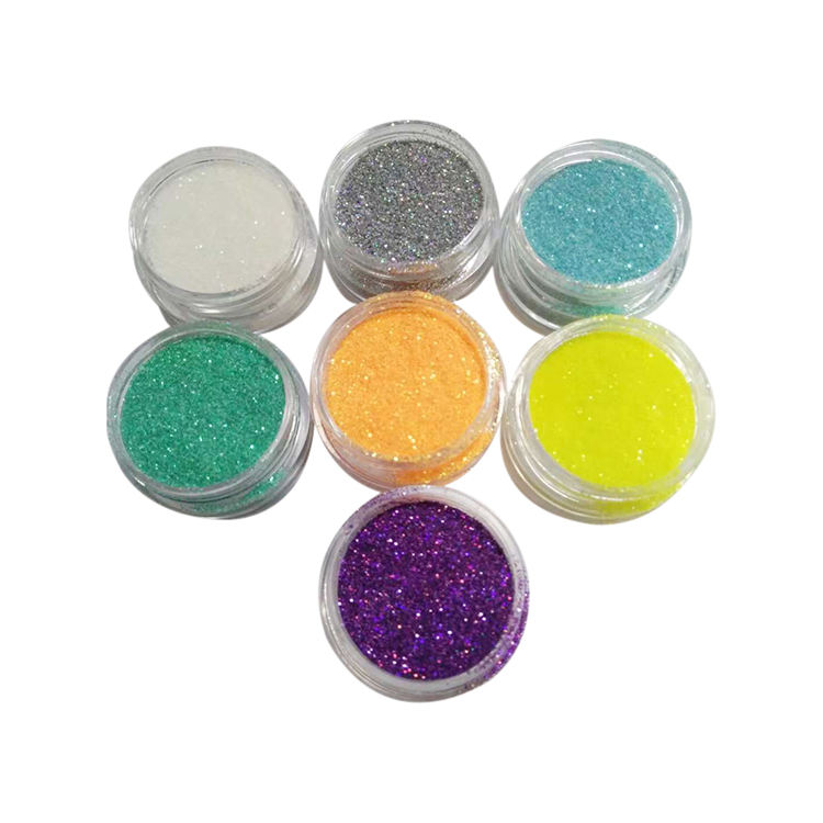 factory price 8 color high flash crafts holographic glitter different festival body glitter powder