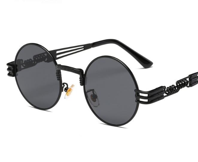 2019 8010 classic punk steam round fashion sunglasses USA sunshades sun glasses