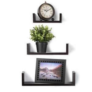Floating Shelves Set of 3 Wall Shelves Espresso Wooden Antique Shelf liner for Kitchens