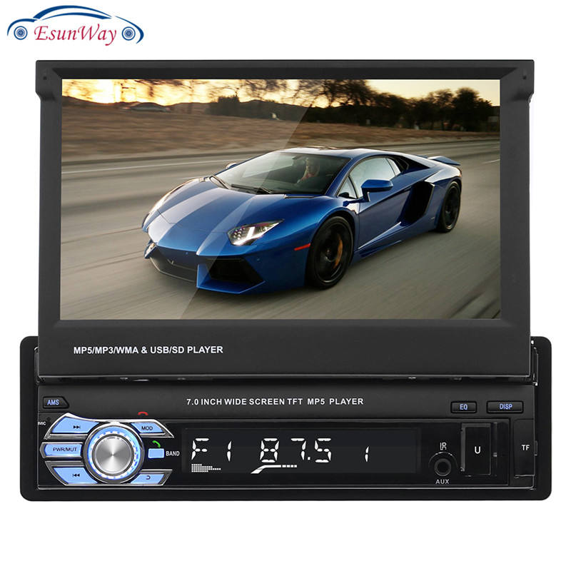 EsunWay Eine din Auto radio MP5 Player Multimedia auto audio stereo Bluetooth 7