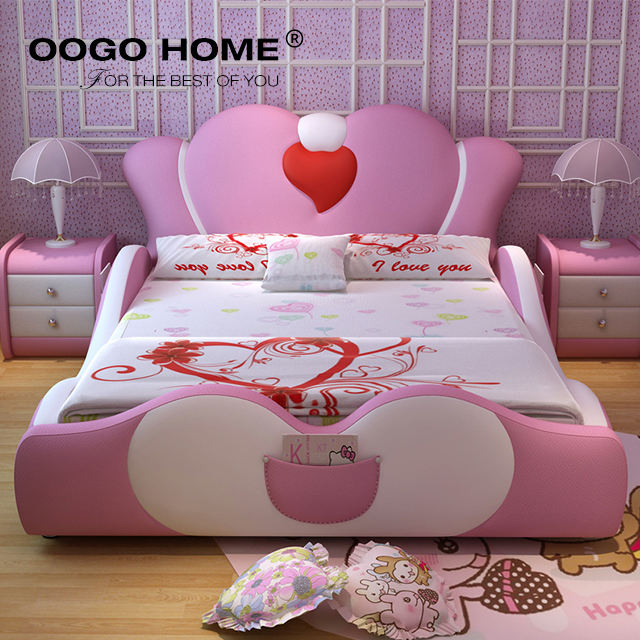 New products children single bed for girls