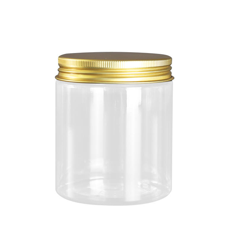 CBRL empty clear 60g 80g 100g 120g 150g 200g 250g 400g 500g PET sealed food packaging jar