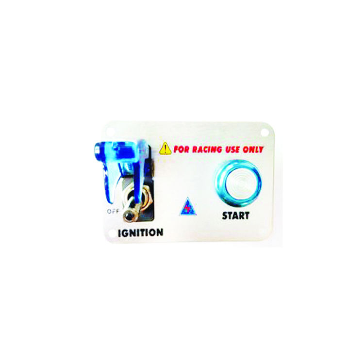 IBA-0323 Universal Sweatbuy 12V 20A 3 Group Toggle Switch Panel For Racing CarとBlue LED