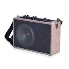 Private Mode portable woofer 6.5 inch wooden outdoors activity quran speaker multifunctional box with bluetooth FM radio