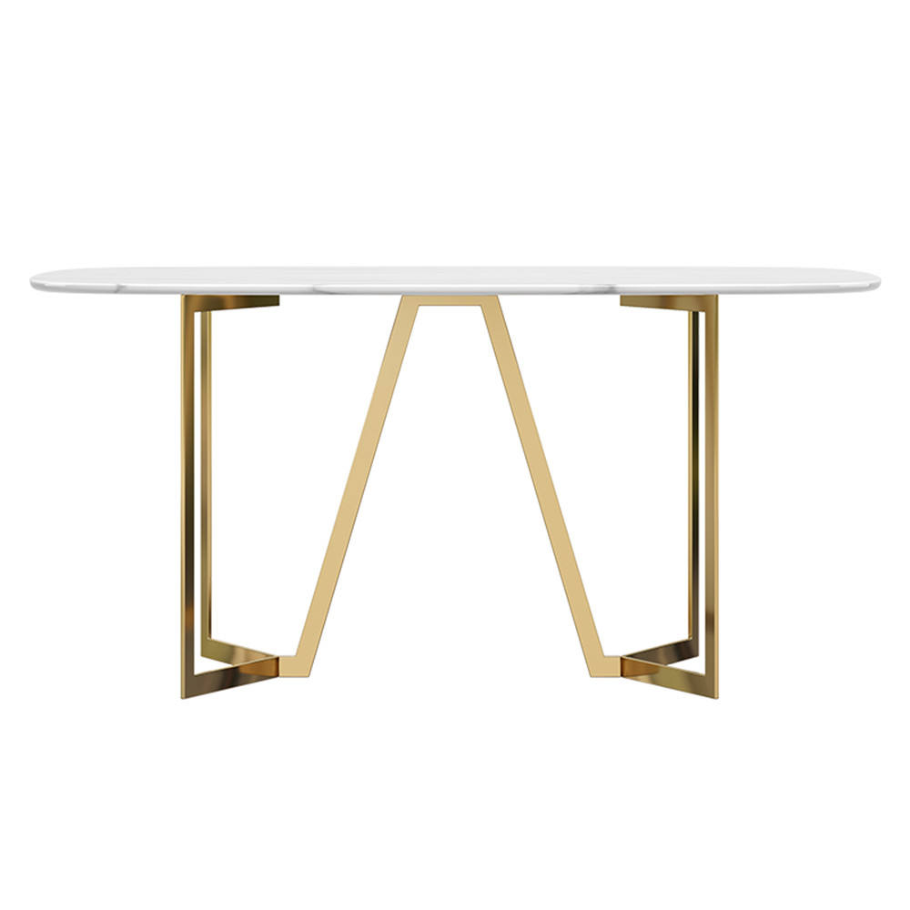 Gold Steel Cast Iron Table Legs Manufacturer Metal Trestle Marble Dining Table Gold Leg