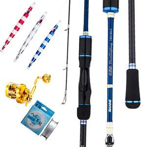 slow jigging lures and jigging reel and fishing lines Ryobi slow Jigging Rod for Saltwater Sea Boat fishing