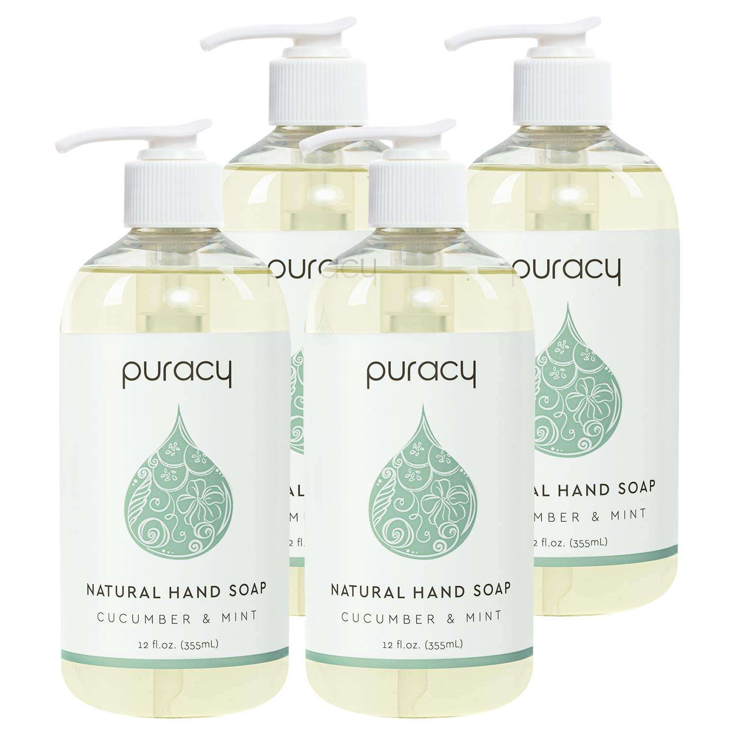 Puracy Natural Antibacterial Liquid Hand Wash Soap