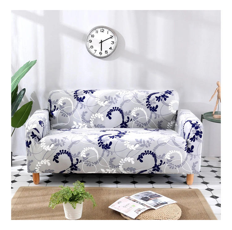 ready made covers sofa printed spandex fabric seat recliner stretch elastic sofa cover