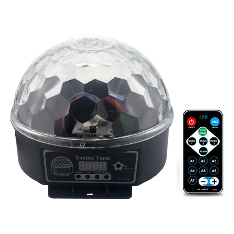 LED Crystal Magic Ball 6W stage light Sound Control DJ Stage Light Colorful Strobe RGB Lamp For Party Decoration