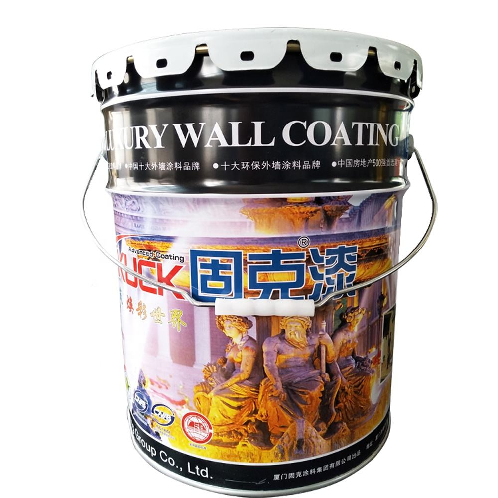 US 5 gallon metal tin paint bucket 20 liters steel pail with lug lid and handle