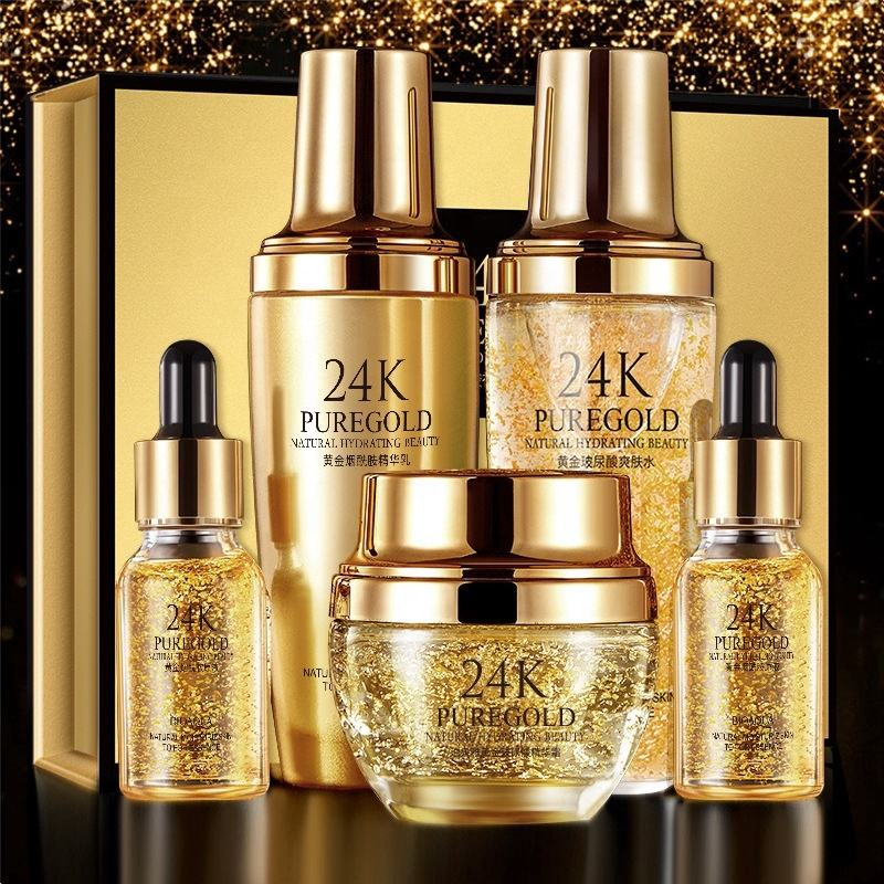 oem private label skin care product 24k gold skin care set
