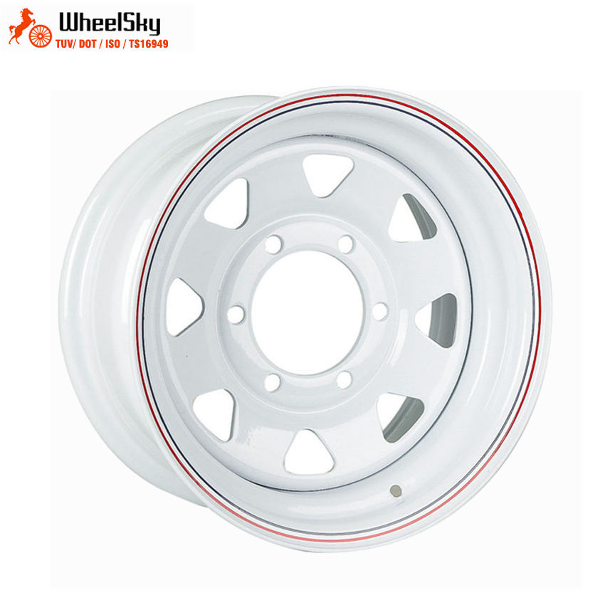 Wheelsky popular 16 inch 16x7J 6x139.7 eight spoke 4x4 beadlock steel wheel rim