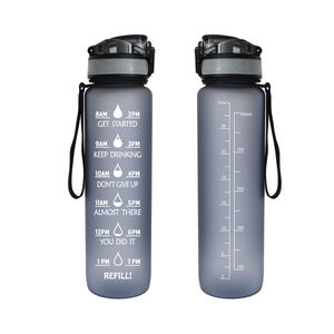 1000ML Sport Water Bottle Fitness Motivational Time Marker BPA Free Drinking Water Bottle With Time Marker