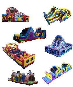 Party rental kid air inflatable jumper bouncer bounce house inflatable slide obstacle course with swimming pool combo