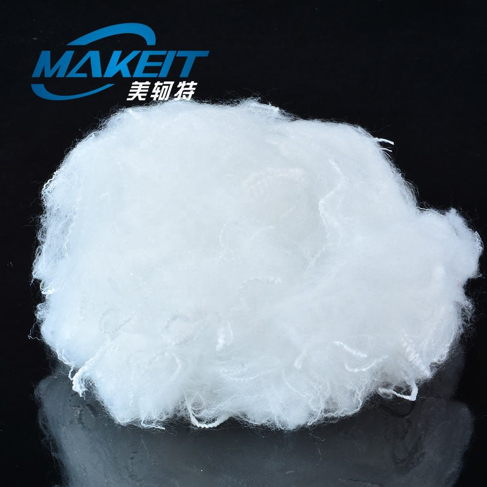 Hollow Recycled Polyester Staple Fiber 7D For Filling Duvets