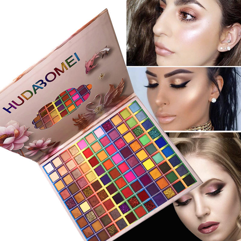 Hot 99 Color Make Up Eye Shadow Private Label Eyeshadow Palette Design