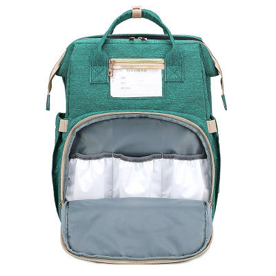 latest portable large volume foldable crib mothers backpack baby diaper bags
