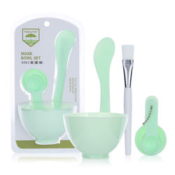 Cosmetic Silicone Face Mask Bowl And Brush DIY Facial Mixing