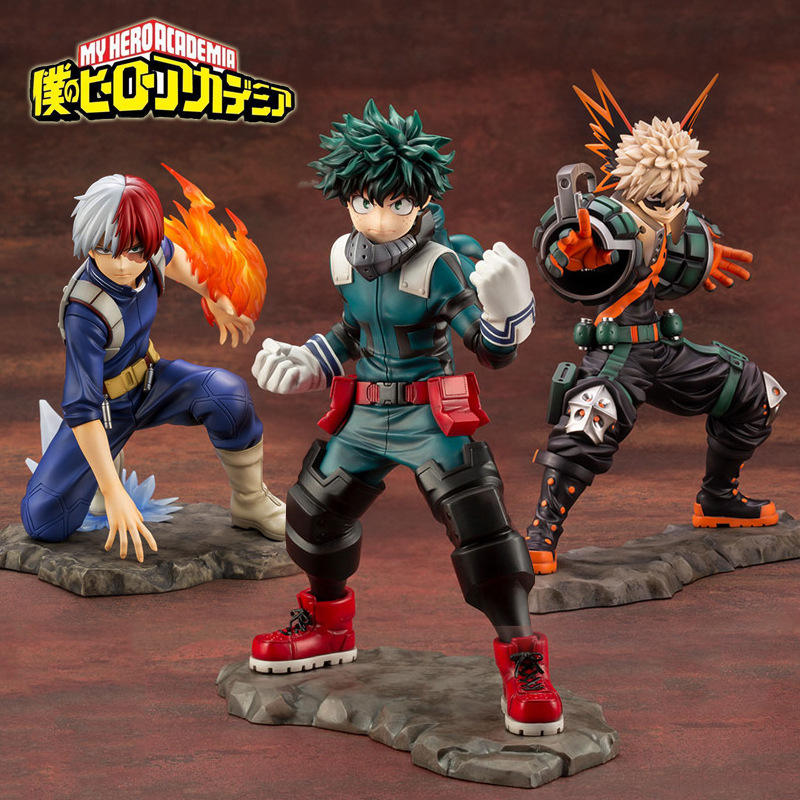 Custom My Hero Academia Midoriya Izuku Bakugou Katsuki Todoroki Shoto 1/8 Collection Anime PVC Action Model Toy Figure