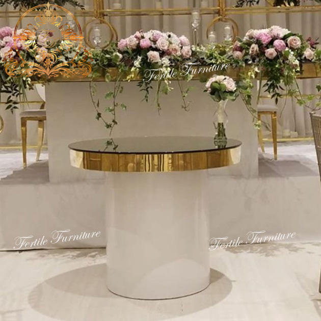 Modern event party mirror glass party dessert round cake table wedding