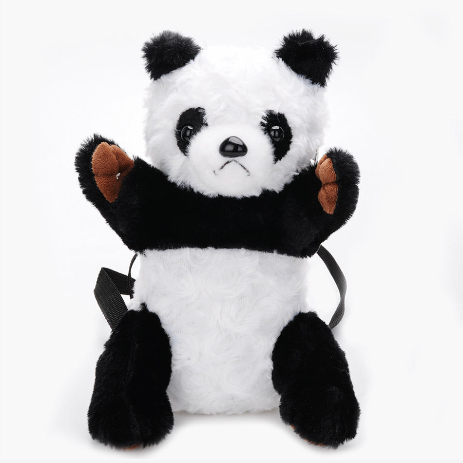 Cute fashion children plush toy panda bag