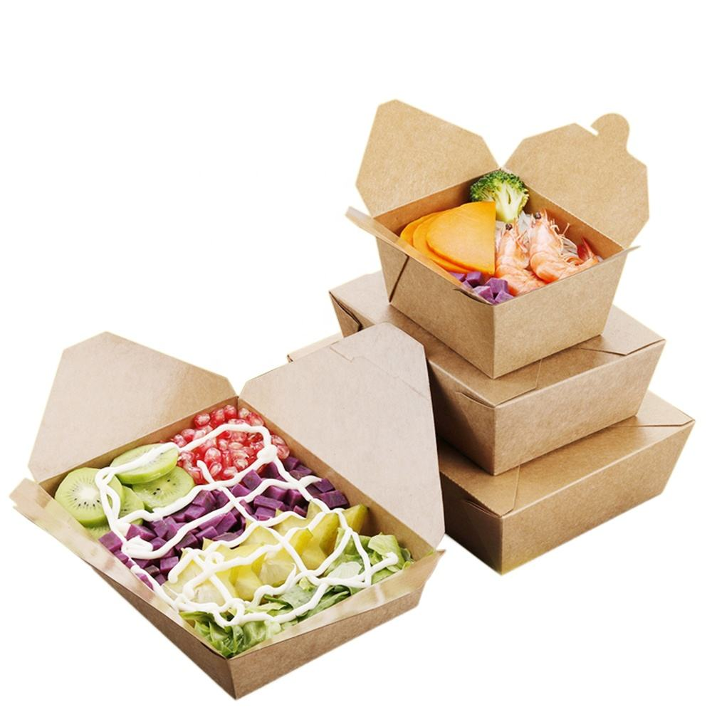 Customized Disposable Food Packaging, Portable Fast Food Packaging Box