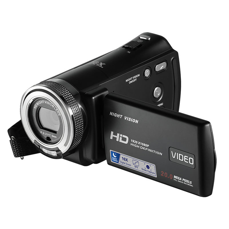 China full hd 1080p digital video camera HDV-F2 max 20 mega pixels 3.0'' TFT display mini DV